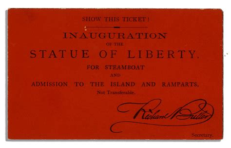 steamboat tickets lot detail rare ticket to the statue of liberty