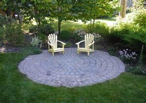 Circular Patio Designs Patio Designs Greece Landscape In Rochester Ny
