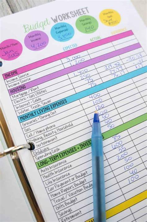 printable budget planners budget binders stashing