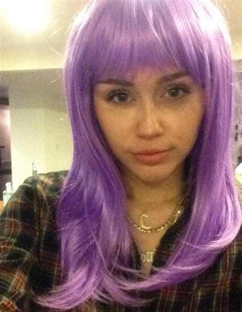 Pop Nosh Bald Dons A Wig by What You Done With The Twerkaholic Miley Cyrus