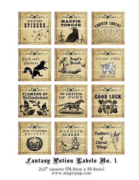 printable potion labels antique fantasy potion labels harry potter birthday