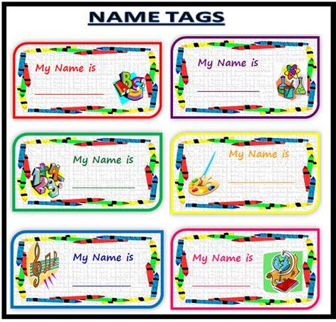 printable name tags for school kinder smart work name tags