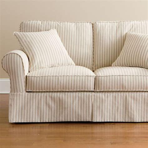jcpenney friday sofa friday stripe slipcovered loveseat tan stripe