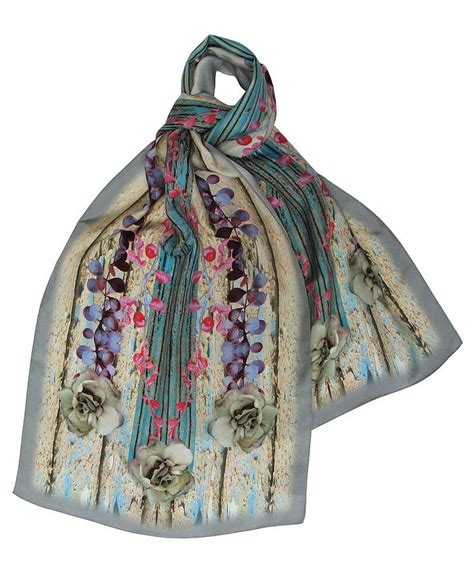 shutter digital print silk scarf by burton