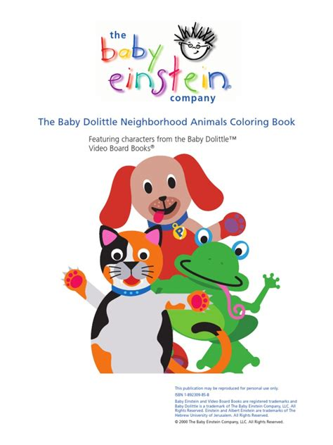Baby Animals Coloring Book baby dolittle neighborhood animals coloring book