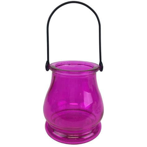 Hanging Glass Vases by Hanging Glass Candle Vase 3 75 Quot Fuchsia
