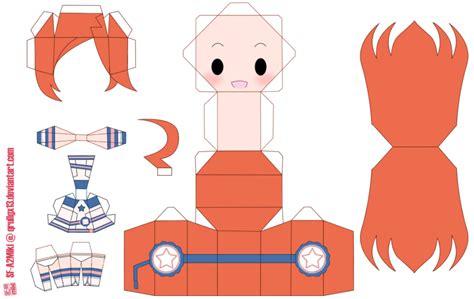 Papercraft Animation - adorable chibi papercraft