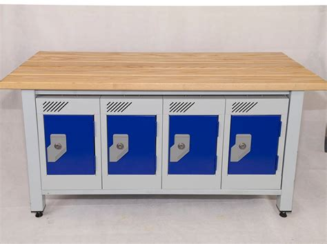 locker with bench bench seating including integrated wallet lockers