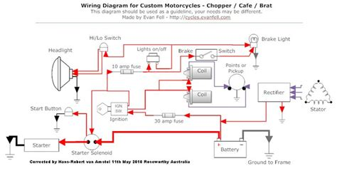 looking for headlight system wiring diagram for 2005 gmc 6500 day light works but not headlights simple motorcycle wiring diagram for choppers and cafe racers evan fell motorcycle works