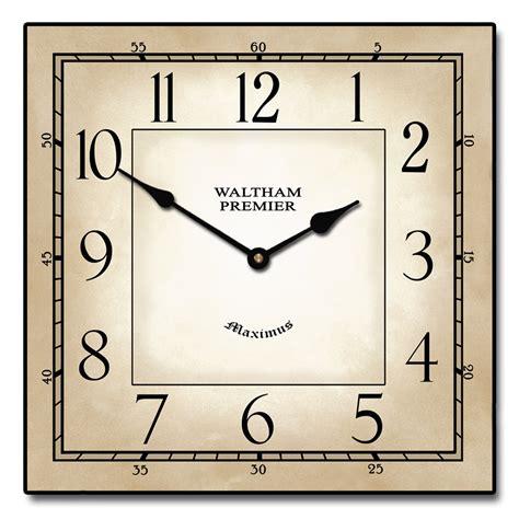 Patriotic Home Decor Ideas waltham square clock the big clock store