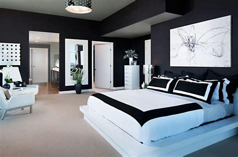 black  white bedroom home trendy