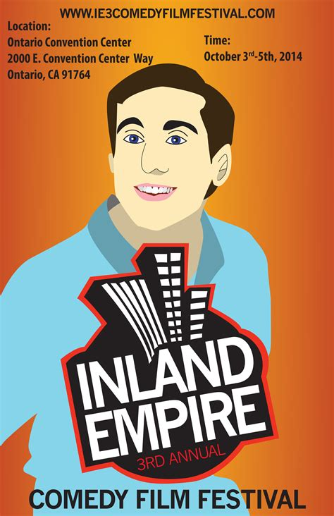 comedy film festivals uk inland empire comedy film festival poster on behance