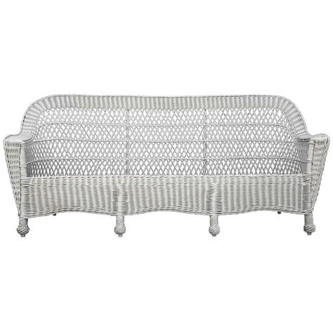 antique wicker loveseat antique bar harbor wicker sofa at 1stdibs