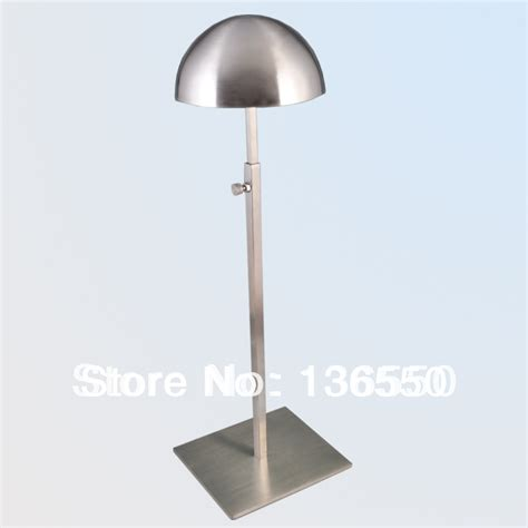 satin stainless steel hat display stand rack holder cap