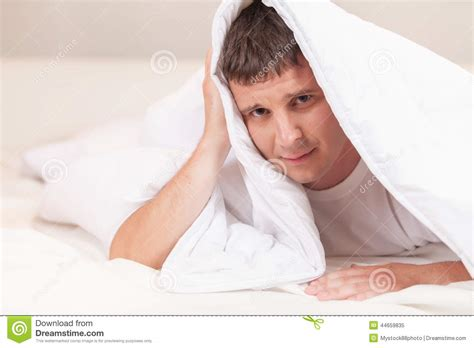hiding under the sheets stock image cartoondealer com 46387489