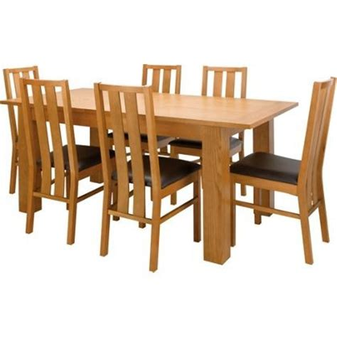 Promo Meja Lipat Mobil Travel Dining Table oakleigh dining table with 6 chairs oak for 163 149 95 was 163 299 93 at homebase find it for less