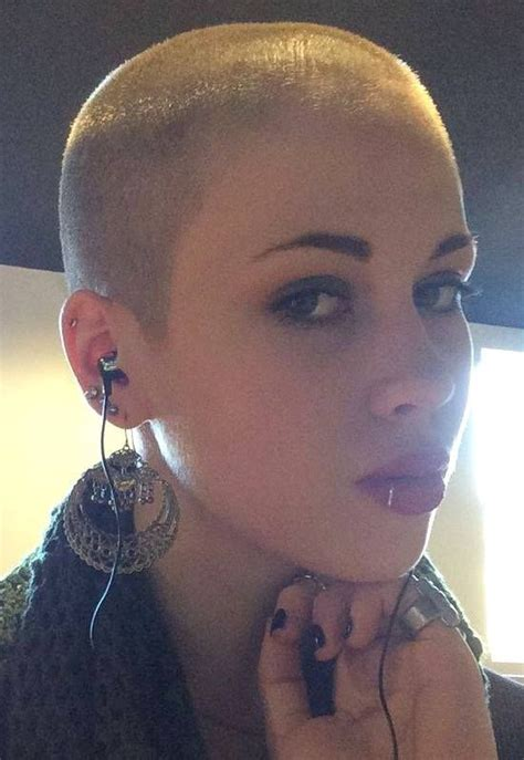 short braids on shaved head 78 best women with buzz cuts images on pinterest hair