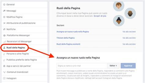 fb della aggiungere amministratore pagina facebook e altri ruoli