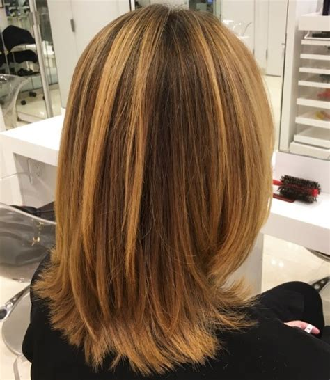 mid length layered hairstyle with box layers and curls medium layered haircuts 28 haircuts hairstyles 2018