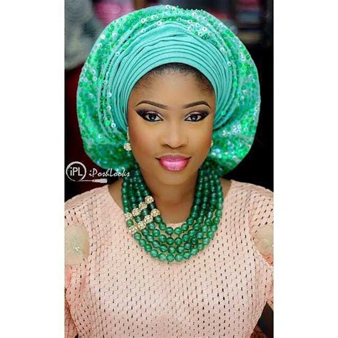 Fashion Gallery: gele style make up by @iposhlooks amillionstyles   Amillionstyles.com