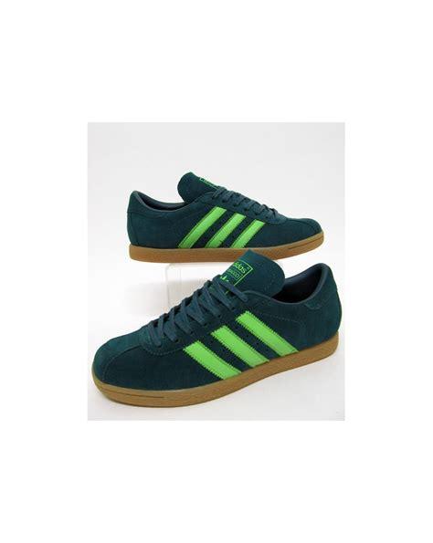 adidas tobacco trainers rich green originals adidas