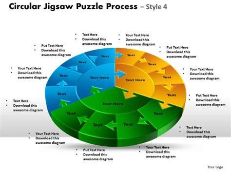 Powerpoint Template Leadership Circular Jigsaw Puzzle Process Ppt Slides Jigsaw Ppt
