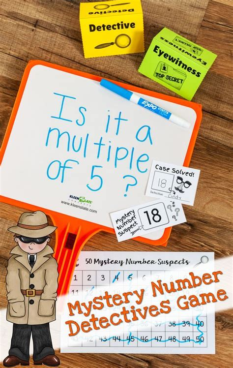 guess my number printable cards mystery number detectives game guess my number variation