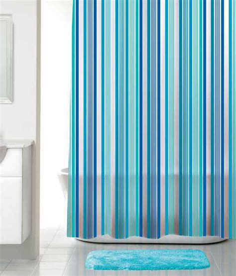 bright blue curtains portico new york florida bright stripes shower curtain