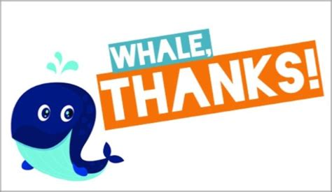 free whale thanks ecard email free personalized thank