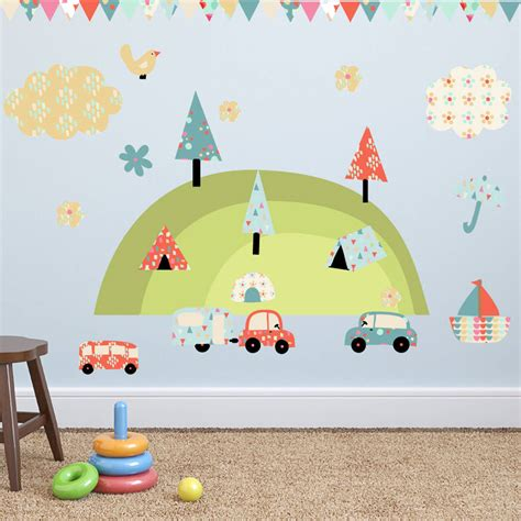 Holiday Wall Stickers camping holiday wall stickers by parkins interiors