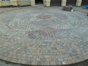 circular paver pattern the landscape pinterest