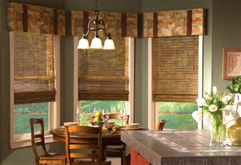 bay window kitchen curtains kitchen curtains smart window treatment ideas