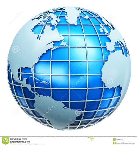 globe enterprise maps application blue metallic earth globe stock illustration image of