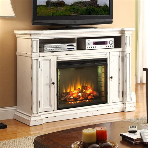 Barn Door Tv Stand White Shop Legends Furniture 58 In W 4 600 Btu Rustic White Wood