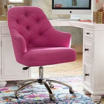 pink tufted office chair decenni getty tufted chair with mirror nail accents