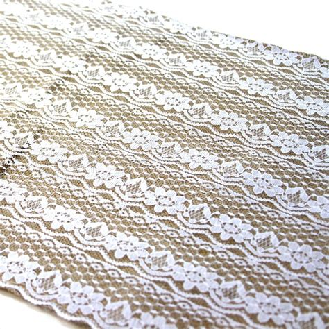 burlap table runner with lace lace burlap table runner