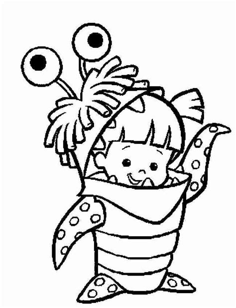 monsters inc characters coloring pages boo in disguise