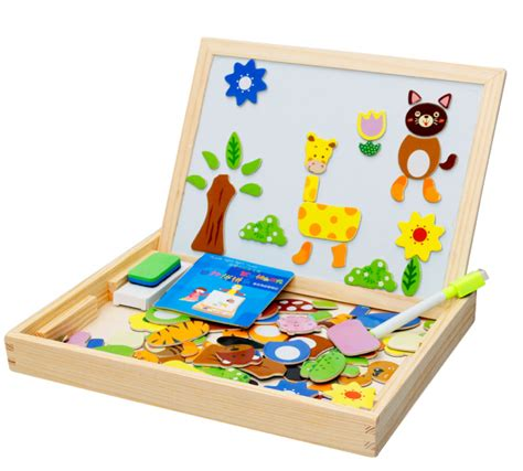 Drawing Board Magnetic Board Karakter 1 aliexpress buy wooden toys easel jungle animal magnetic drawing board puzzle painting