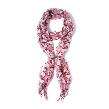hello pink polka dot scarf scarves