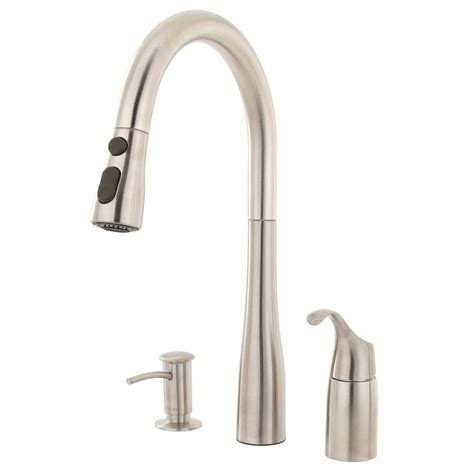 single handle pulldown kitchen faucet kohler simplice single handle pull down sprayer kitchen