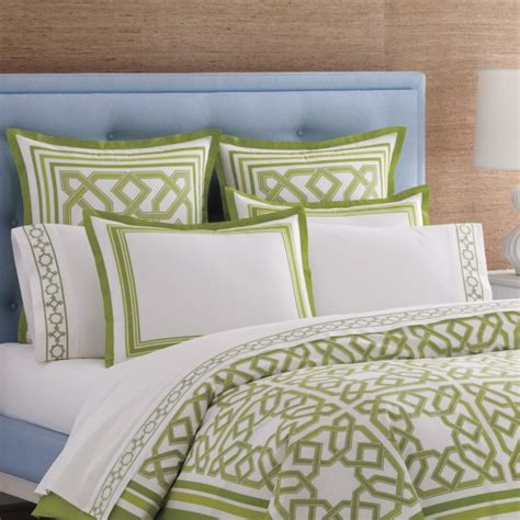 Green And White Comforter jonathan adler green and white bedding decoist