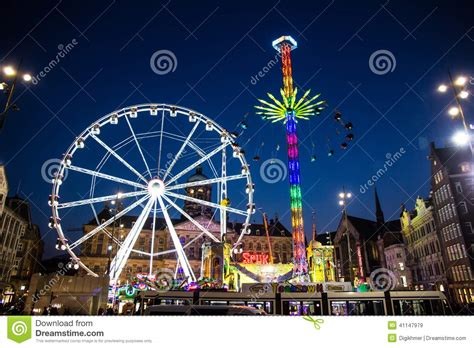 theme park near amsterdam amsterdam fun fair editorial stock image image of holland
