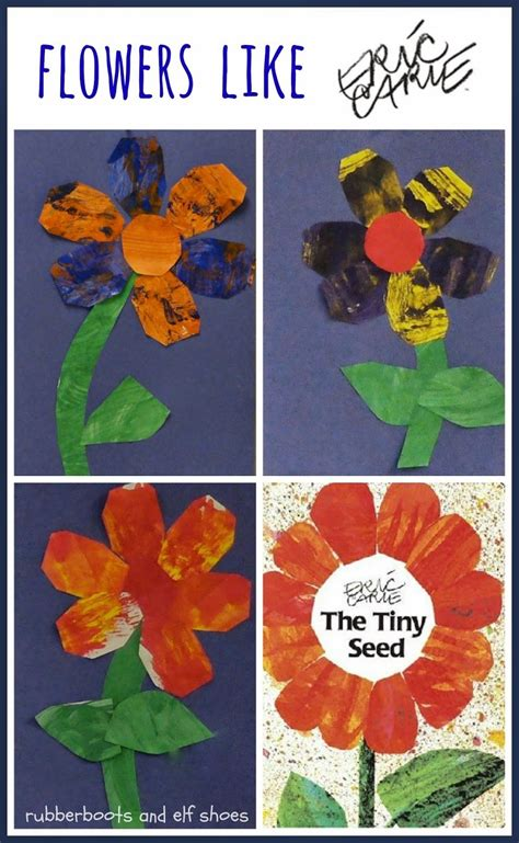 rubberboots and elf shoes eric carle flowers activity rubberboots and elf shoes