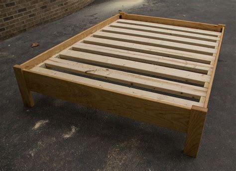 simple king size platform bed frame american hardwood