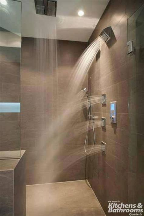 Shower With Multiple Jets And Rain Shower Bathrooms Jet Showers Bathroom