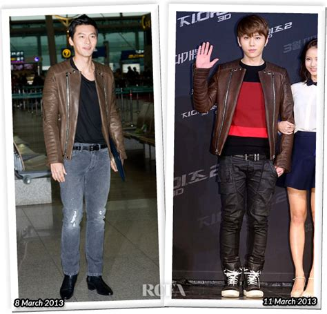 Who Wore Better Carpet Style Awards by Who Wore Balmain Better Hyun Bin Or Yong Jun Hyung
