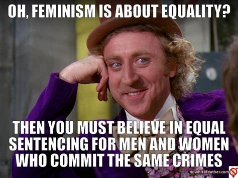 Sexism Meme - no white feather exposing opposing feminism page 3