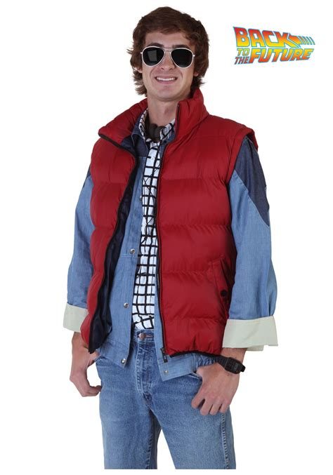 women s marty mcfly costume back to the future marty mcfly vest