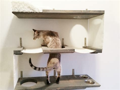 cat wall furniture 3 level cat bunker cat hammock shelves free us shipping