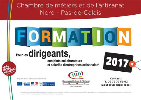 formation chambre des m騁iers calam 233 o calendrier des formations r 233 gional 2017 chambre